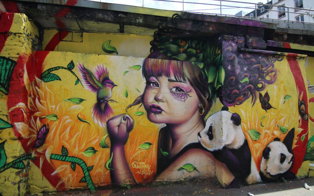Street art au canal de l'Ourcq