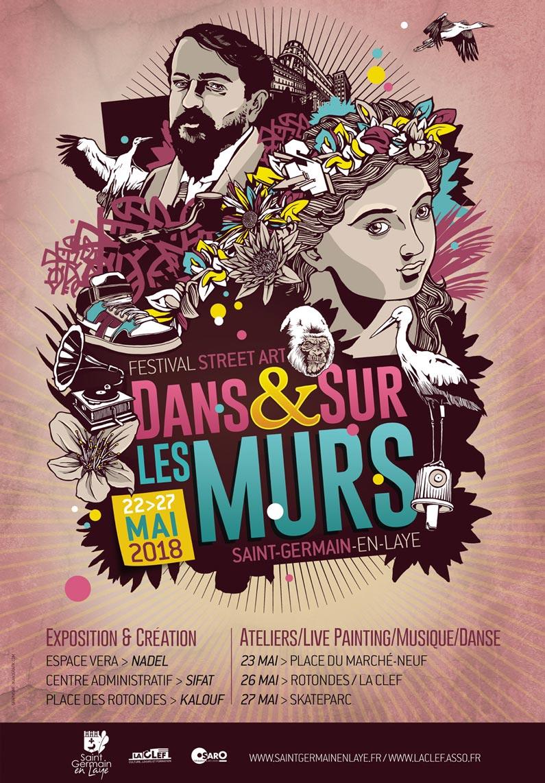 Deuxième festival de street-art àSaint-Germain-en-Laye organisé en partenariat avec Osaro et La CLEF