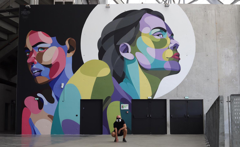 Alber street art événementiel Icade wall murs Paris